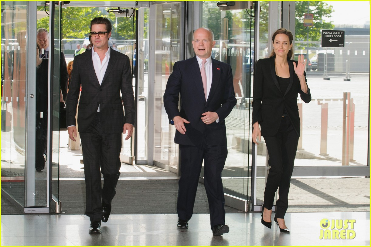 brad pitt supports wife angelina jolie at day three of global summit 19