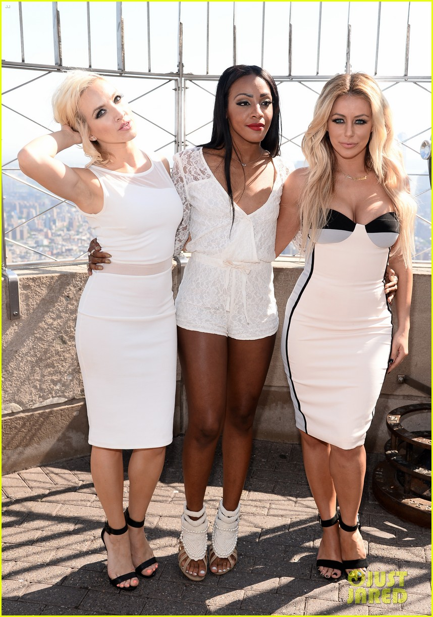 danity kane celebrate lemonade release at empire state building 113127300