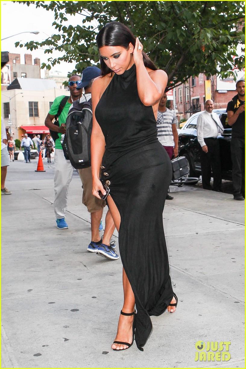 kim kardashian shows off legs for days sexy slit dress 063144303