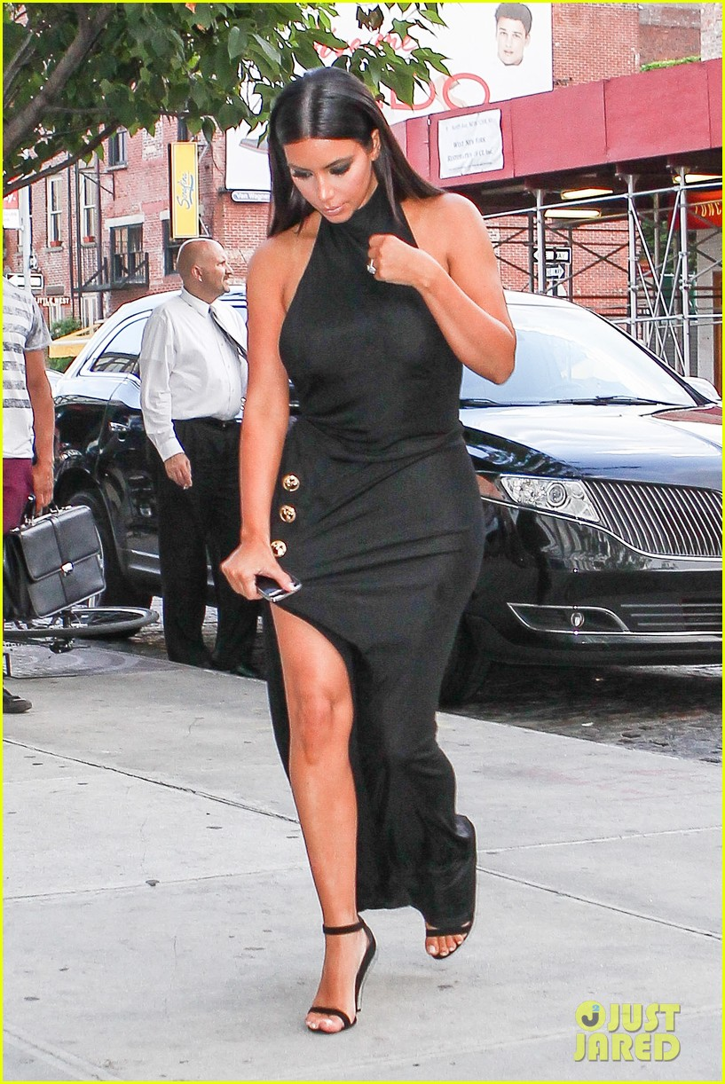 kim kardashian shows off legs for days sexy slit dress 183144315