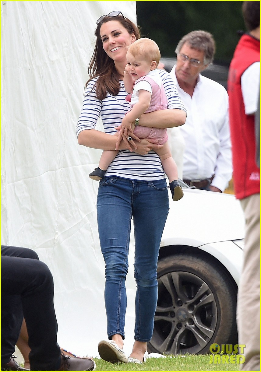 kate middleton prince george william polo match 15