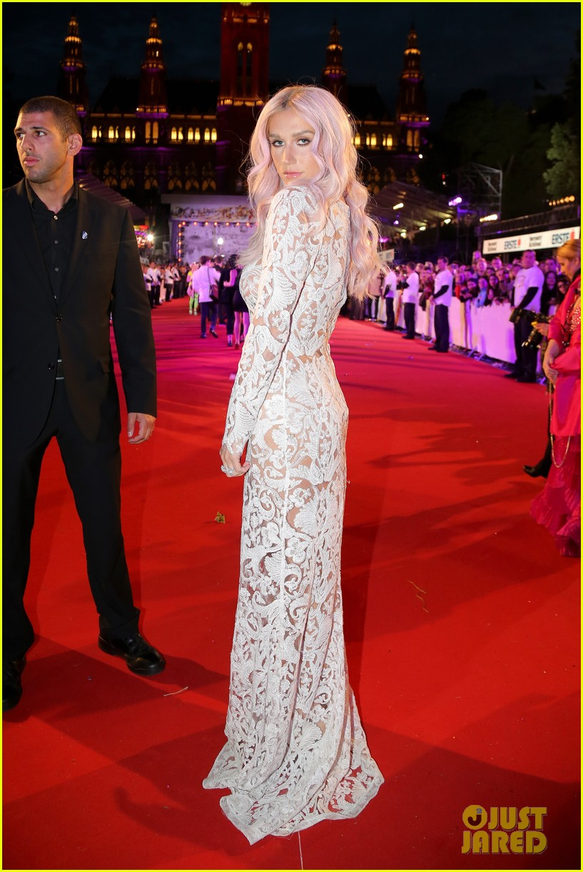 kesha jumps for joy after attending life ball in vienna 013125628