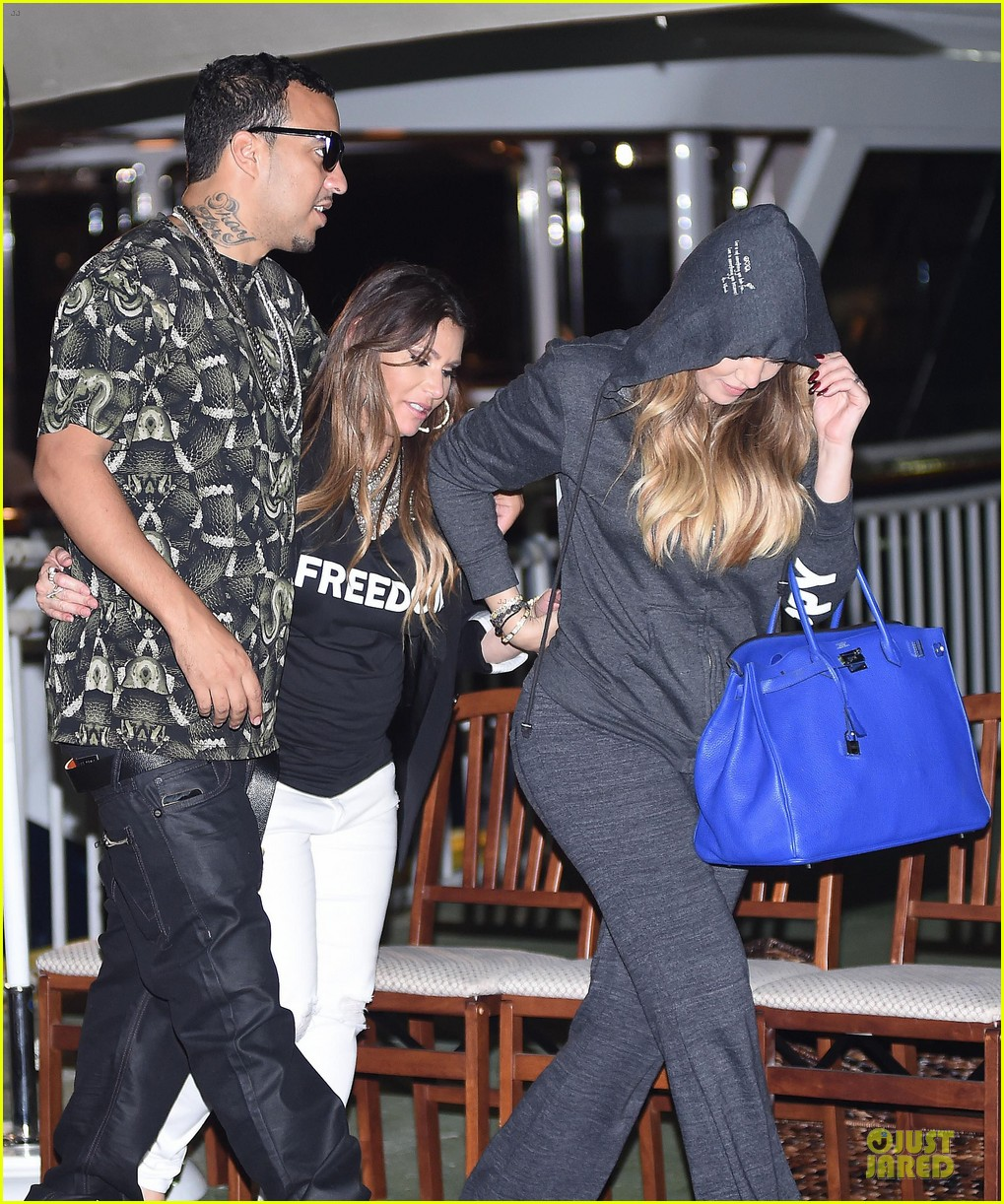 khloe kardashian french montana work off food after birthday celebration 11