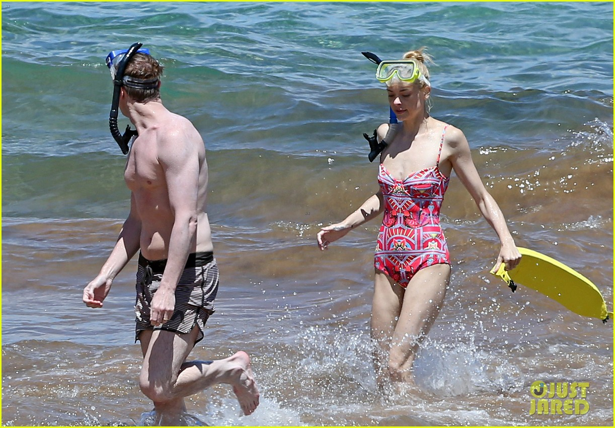 jaime king one piece swimsuit snorkeling hawaii 083137422