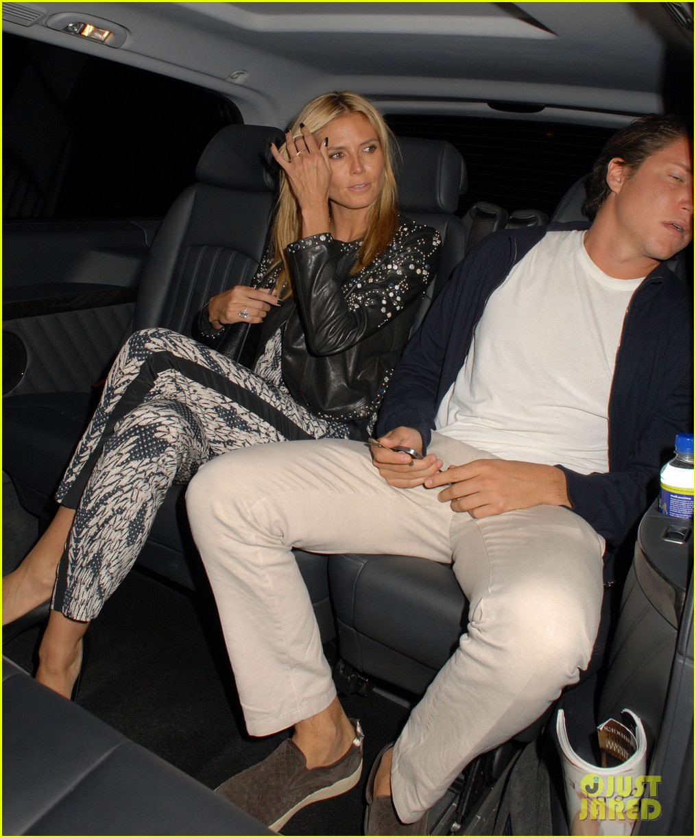 heidi klum parties at chiltern firehouse with beau vito schnabel 02
