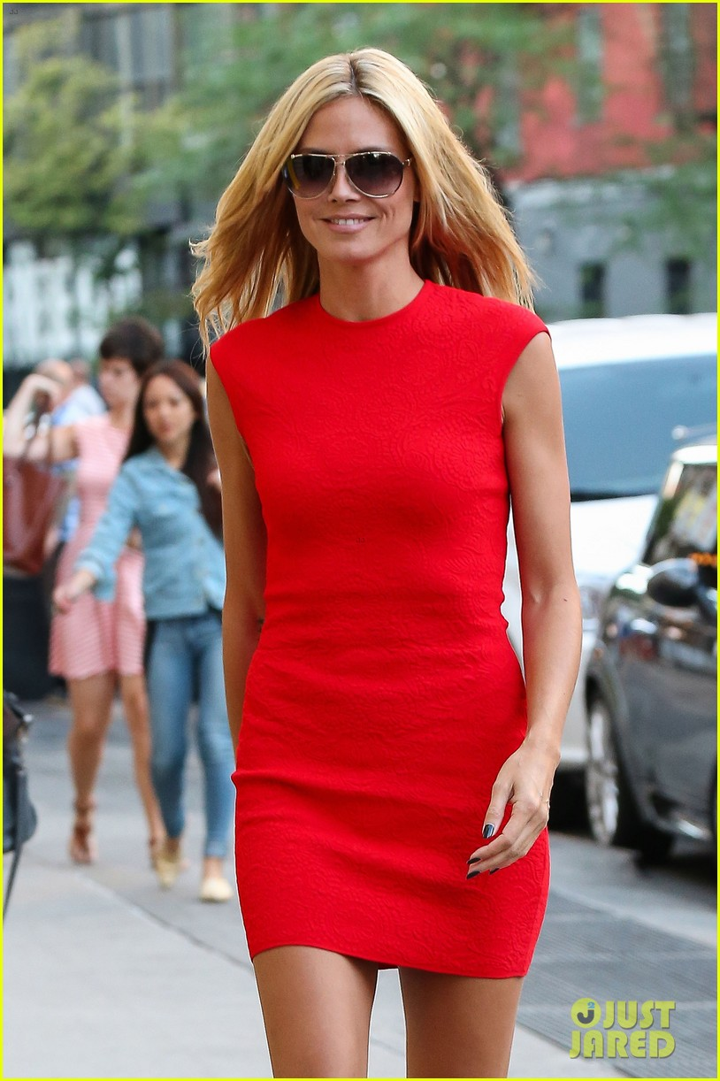 heidi klum is red hot in soho before america's got talent 013142997