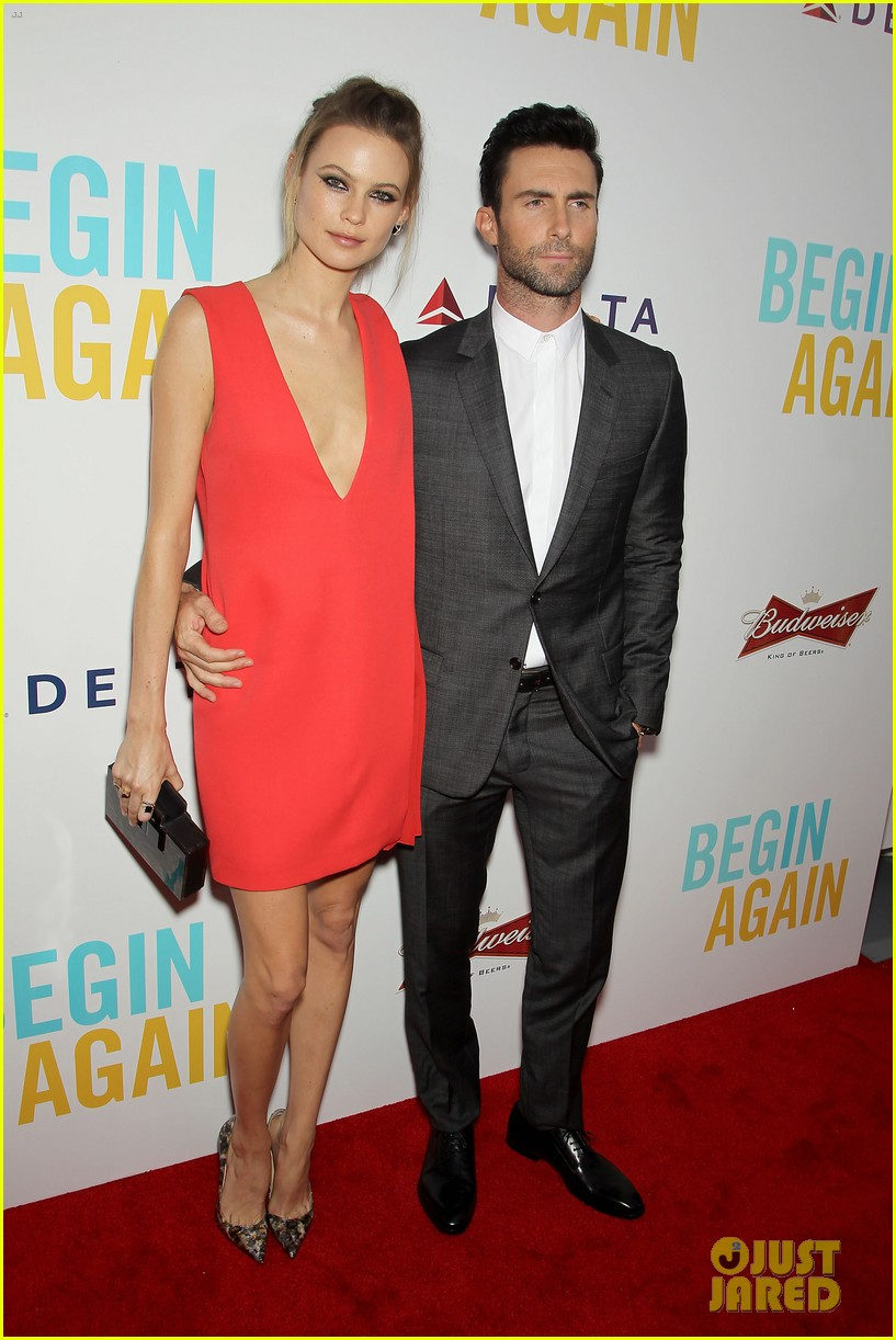 adam levine behati prinsloo begin again new york premiere 093143449