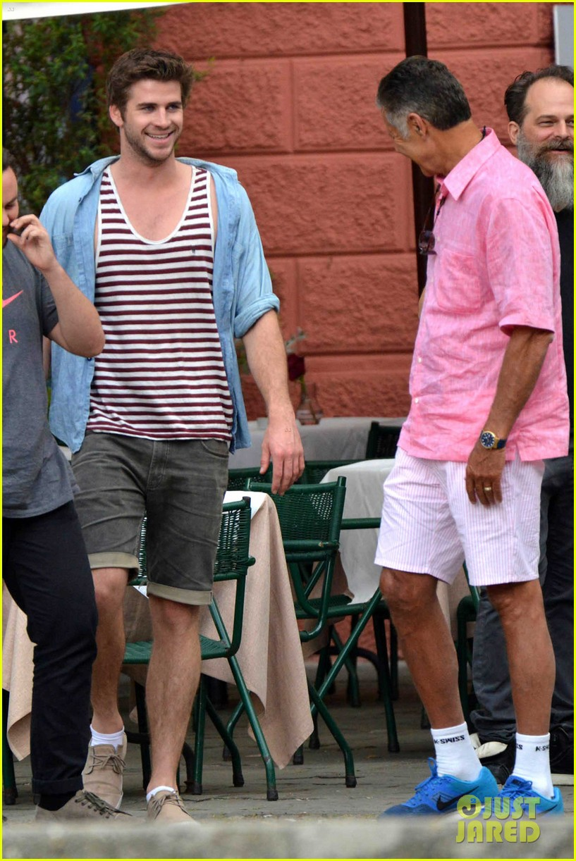 liam hemsworth takes a vacation in portofino 19