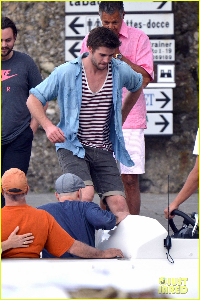 liam hemsworth takes a vacation in portofino 233144860