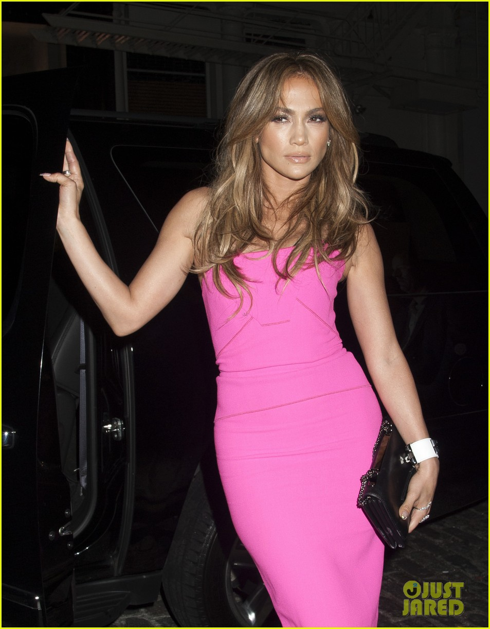 jennifer lopez is lady in pink for a k a album release party 033137861