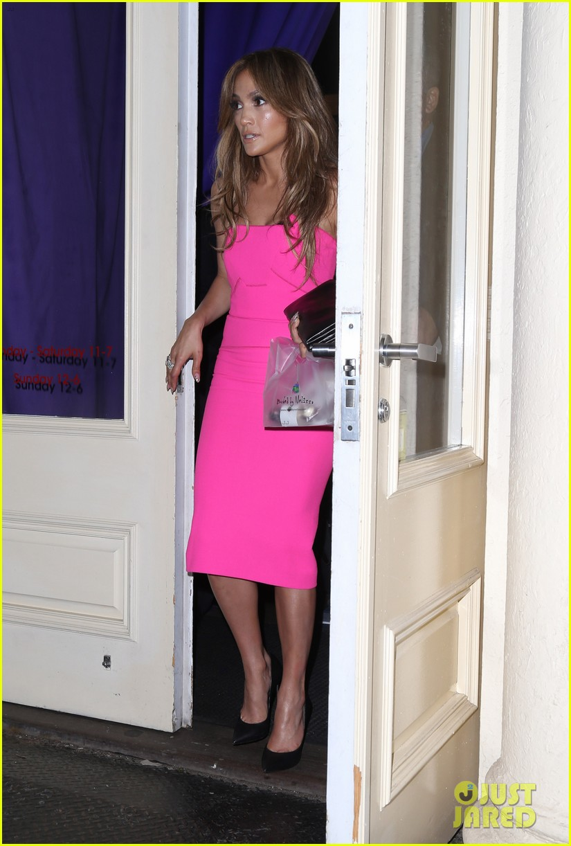 jennifer lopez is lady in pink for a k a album release party 073137865