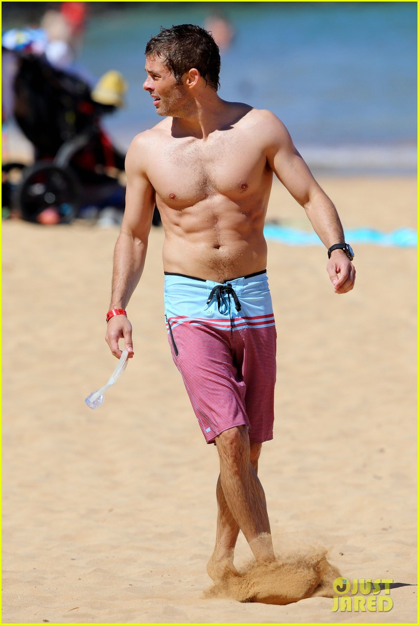 shirtless james marsden shows ripped body in hawaii 233131794