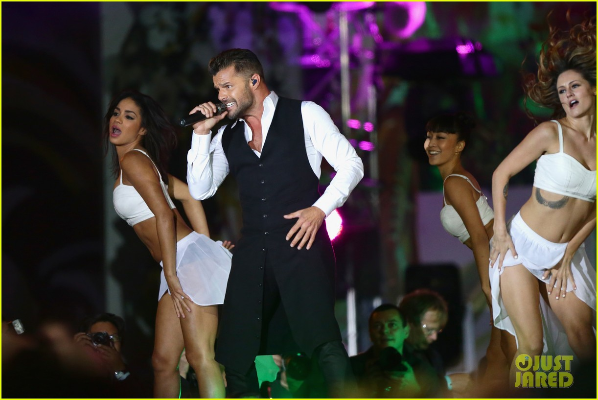 ricky martin christina perri perform at the life ball 20