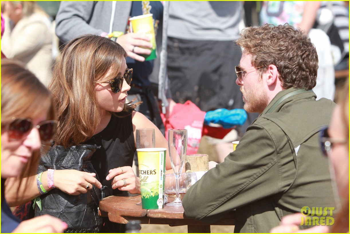 matt smith lily james attend glastonbury festival 013146865