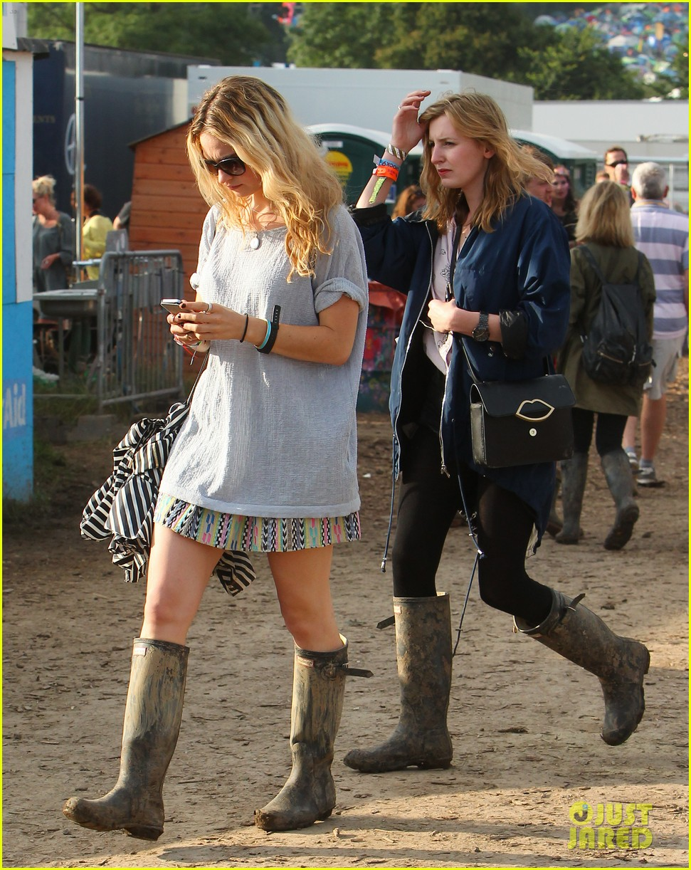 matt smith lily james attend glastonbury festival 153146879