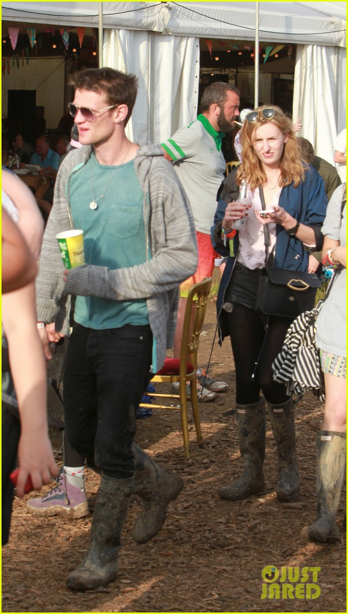 matt smith lily james attend glastonbury festival 22