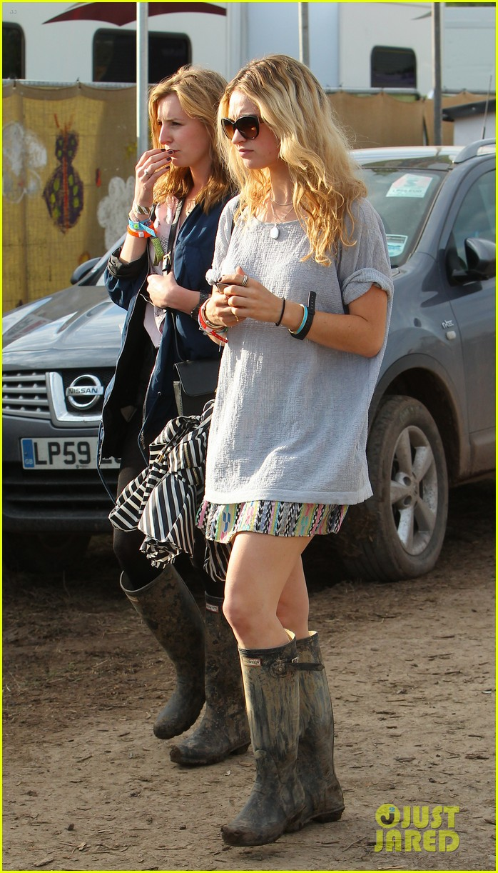 matt smith lily james attend glastonbury festival 233146887