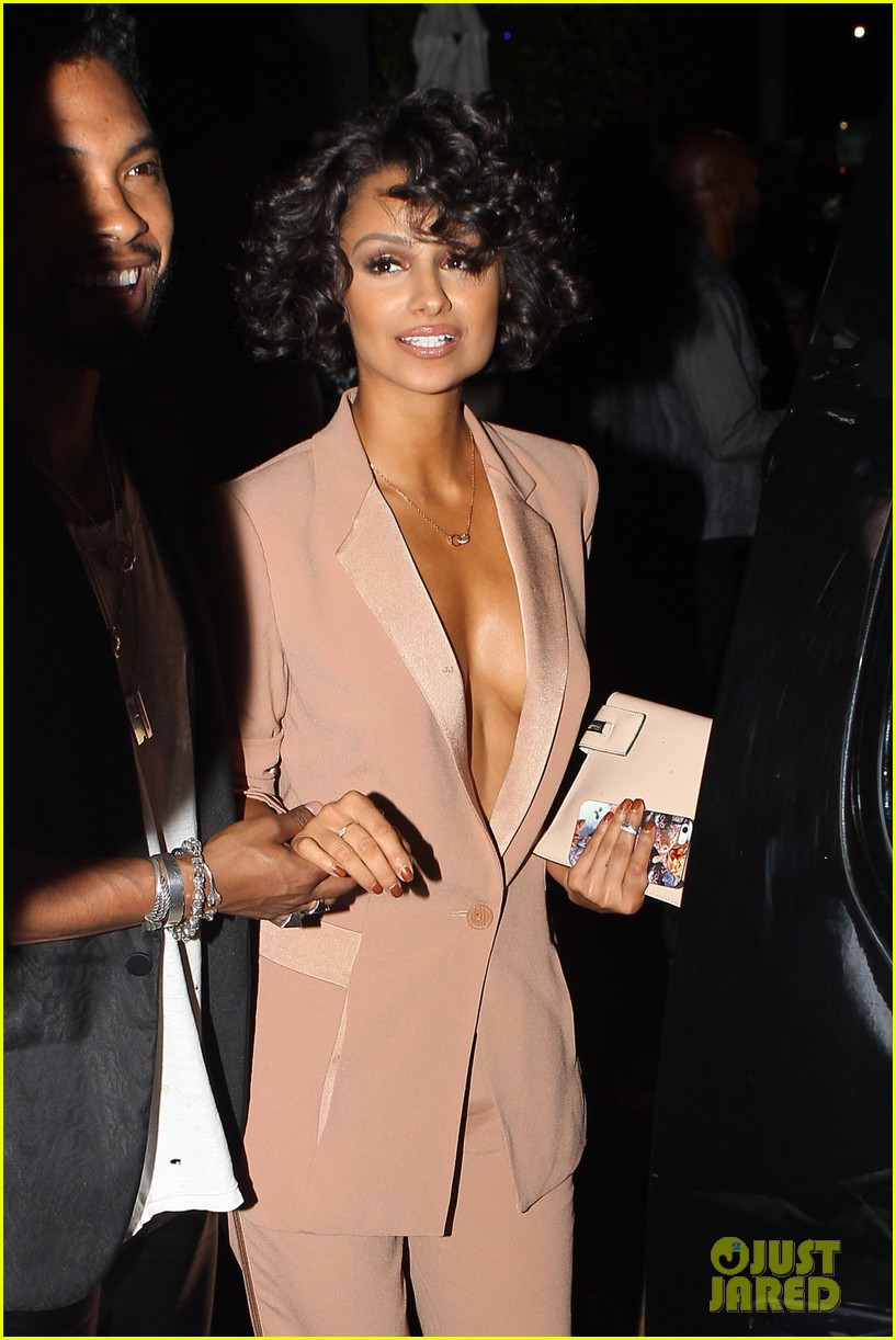 miguel girlfriend nazanin mandi stakes claim to his crotch 14