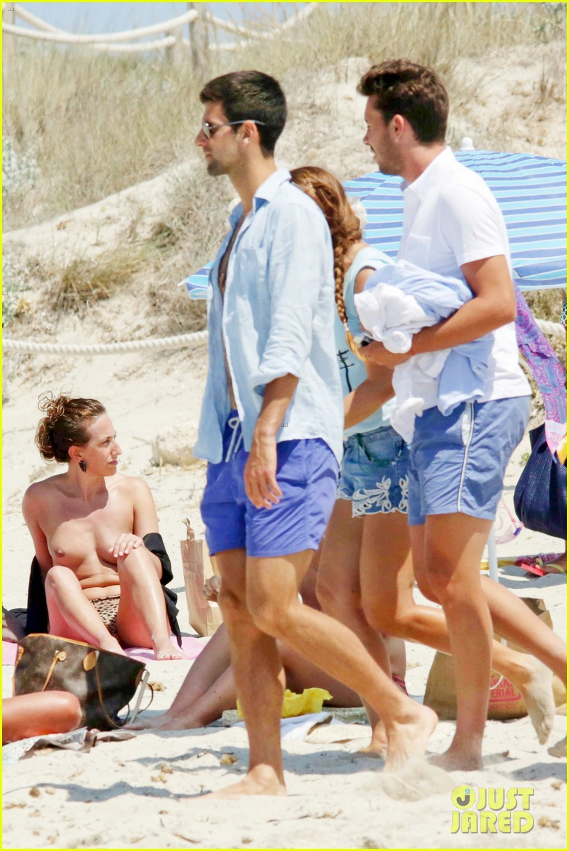 novak djokovic continues his bachelor party beach vacation 123135157