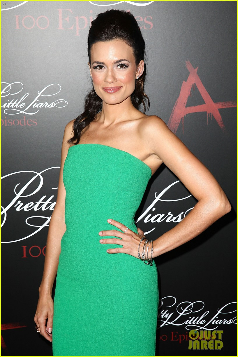 lucy hale ashley benson pretty little liars 100th episode party 10