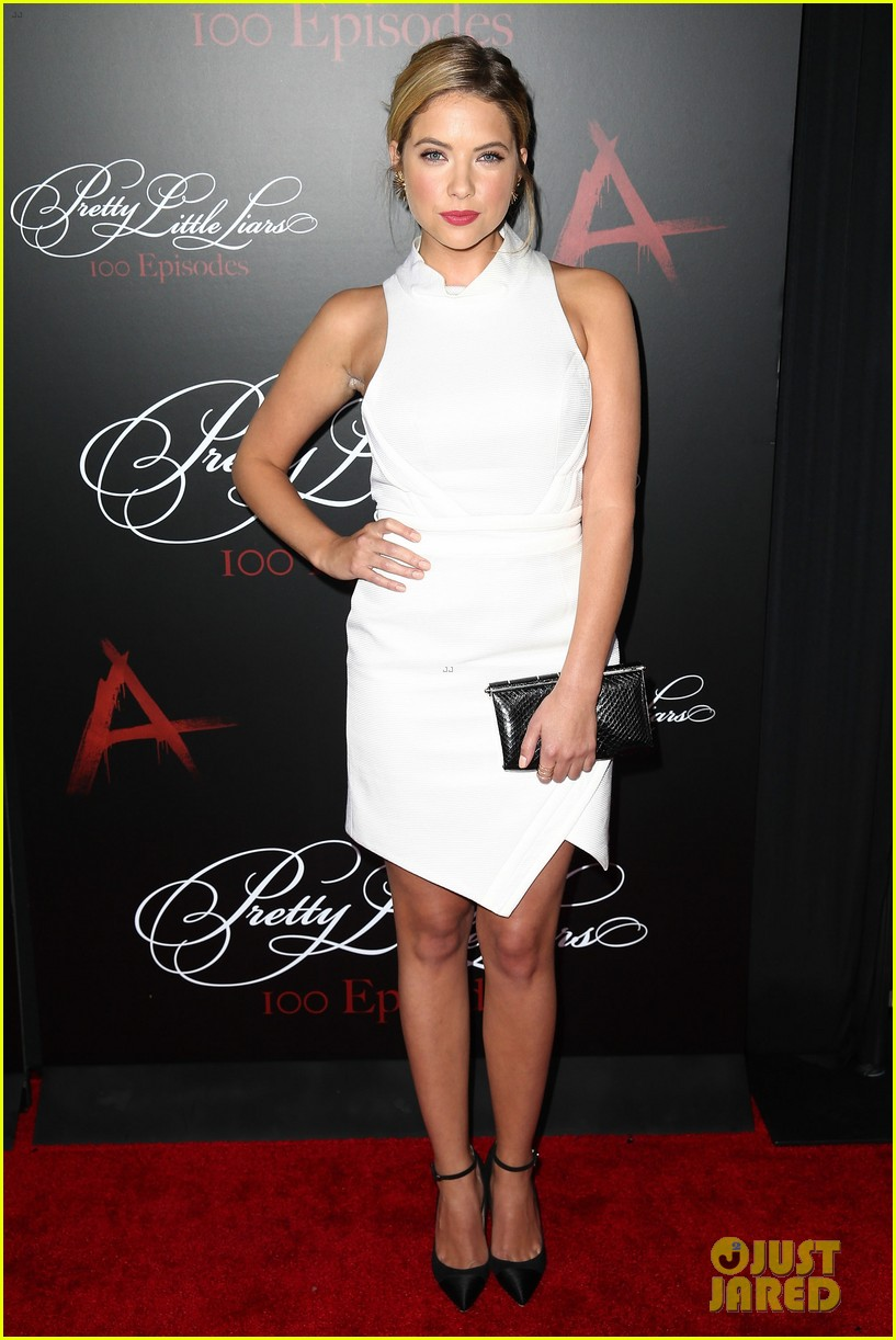 lucy hale ashley benson pretty little liars 100th episode party 26