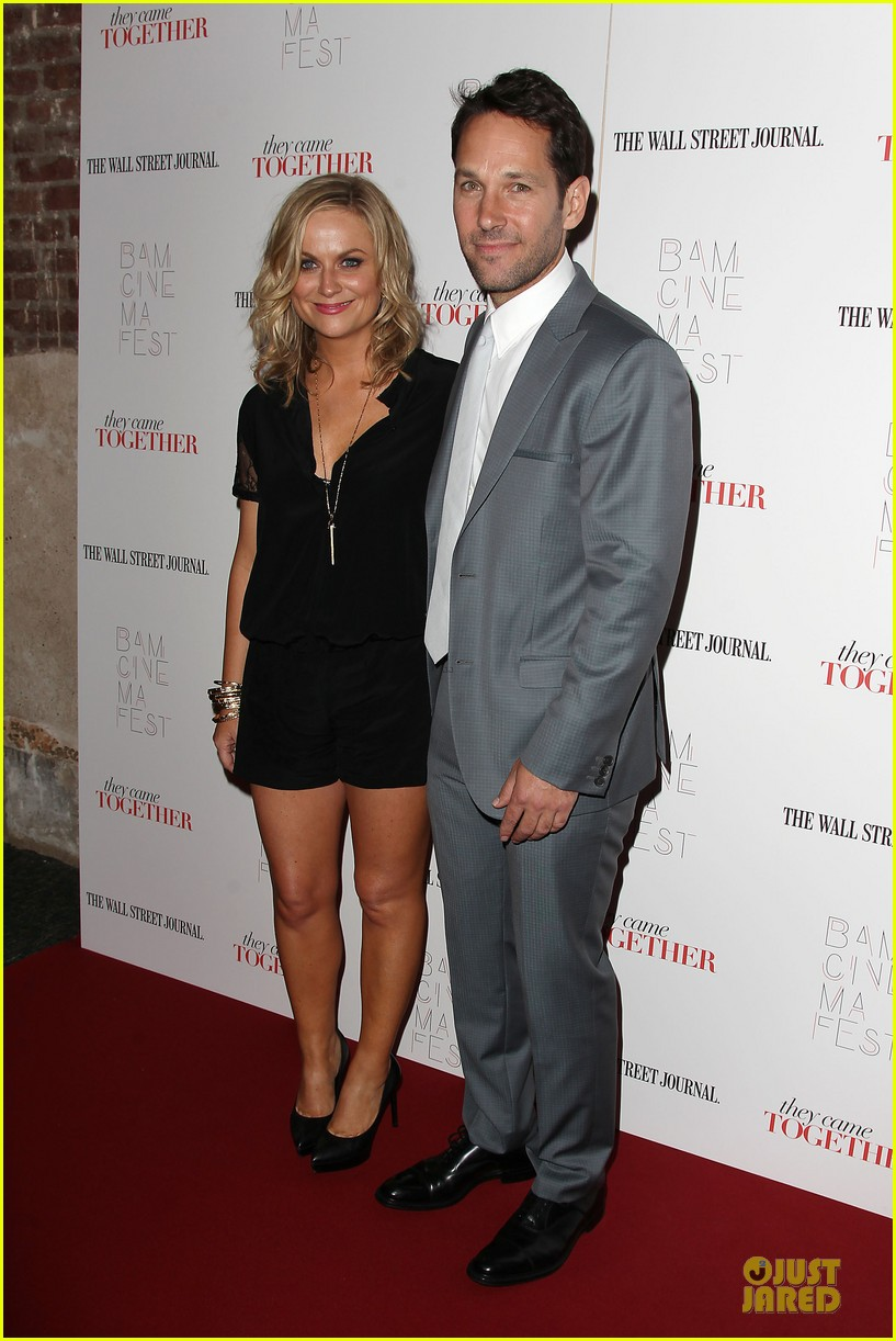amy poehler paul rudd they came together in nyc 01