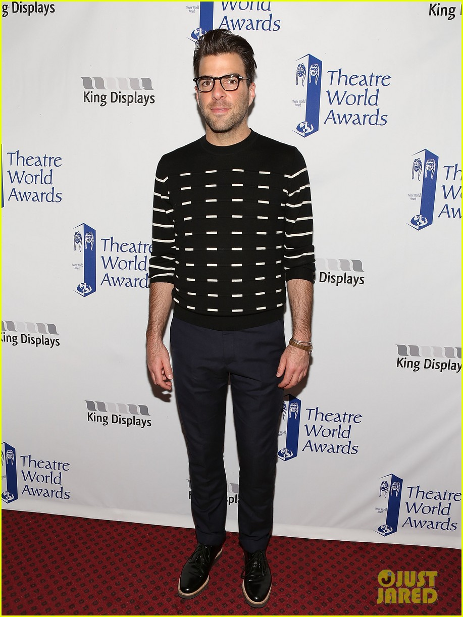 zachary quinto steps out to present at theatre world awards 053127239