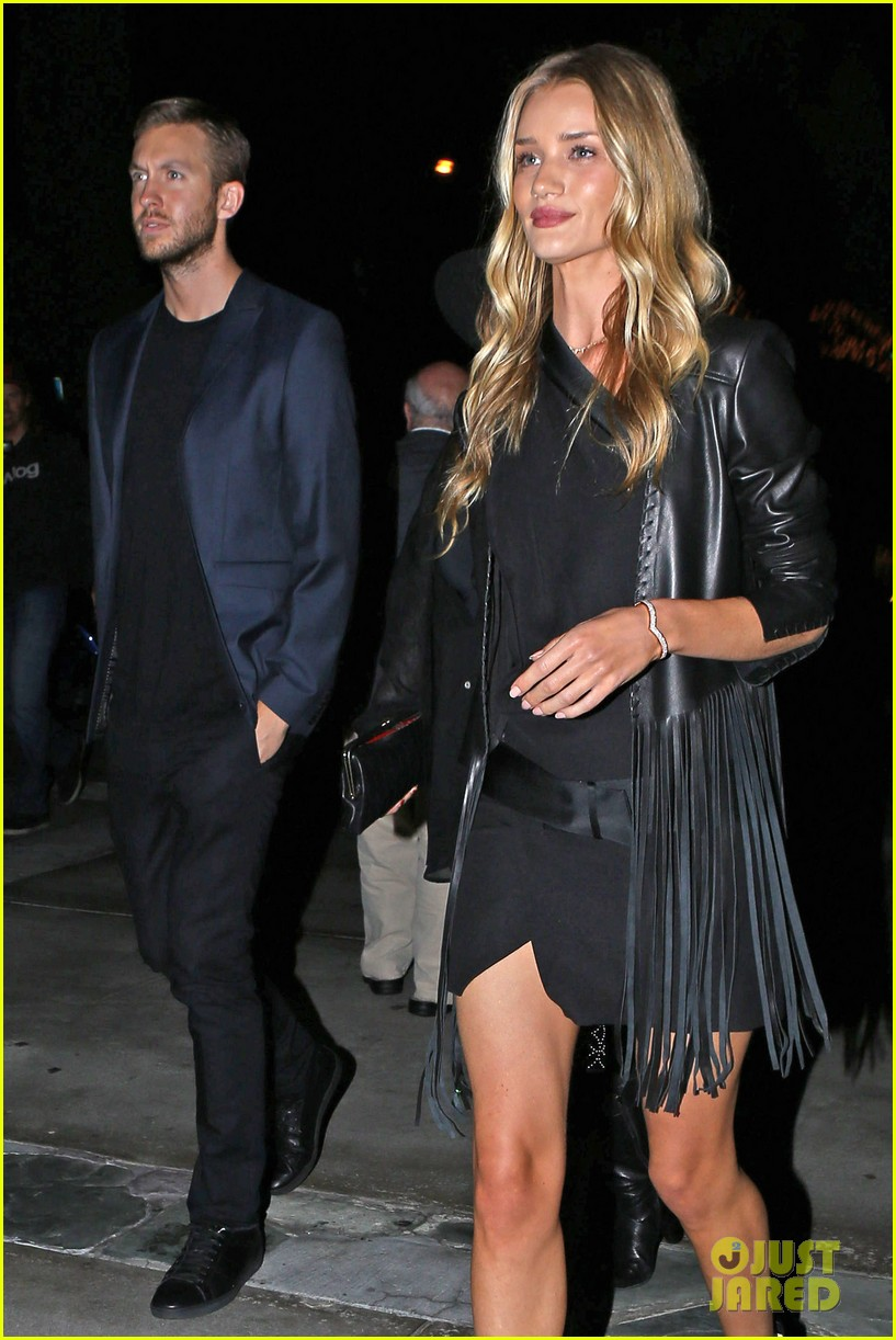 rosie huntington whiteley calvin harris have dinner together 07