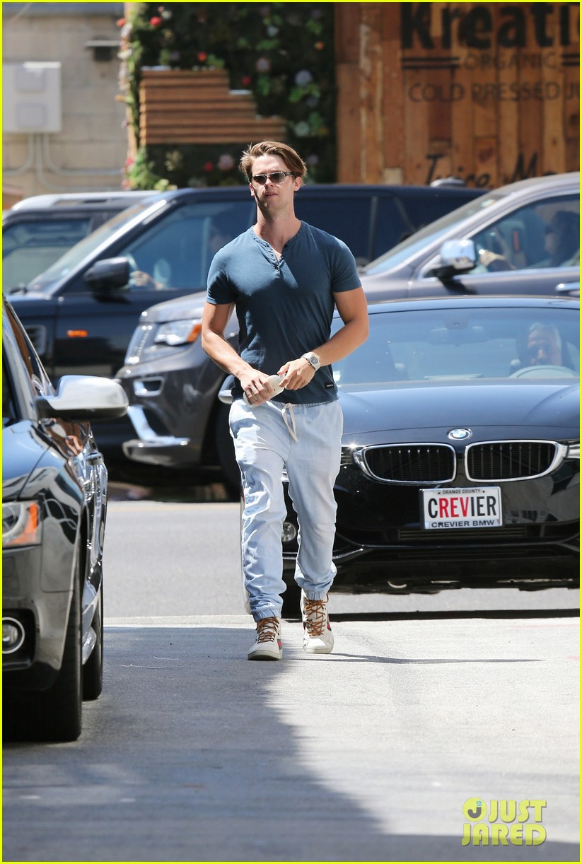 patrick schwarzenegger handsome in blue audi 08