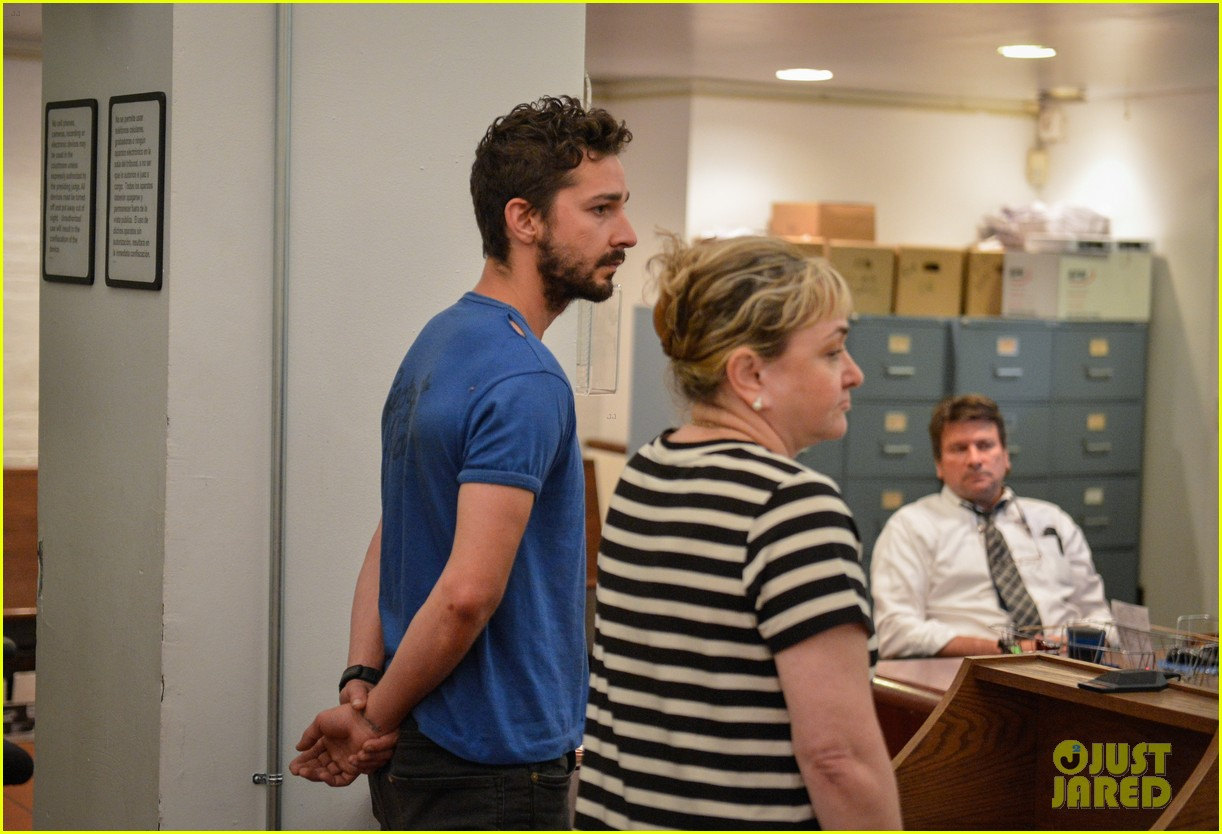handcuffed shia labeouf is arraigned in court after arrest charges 02