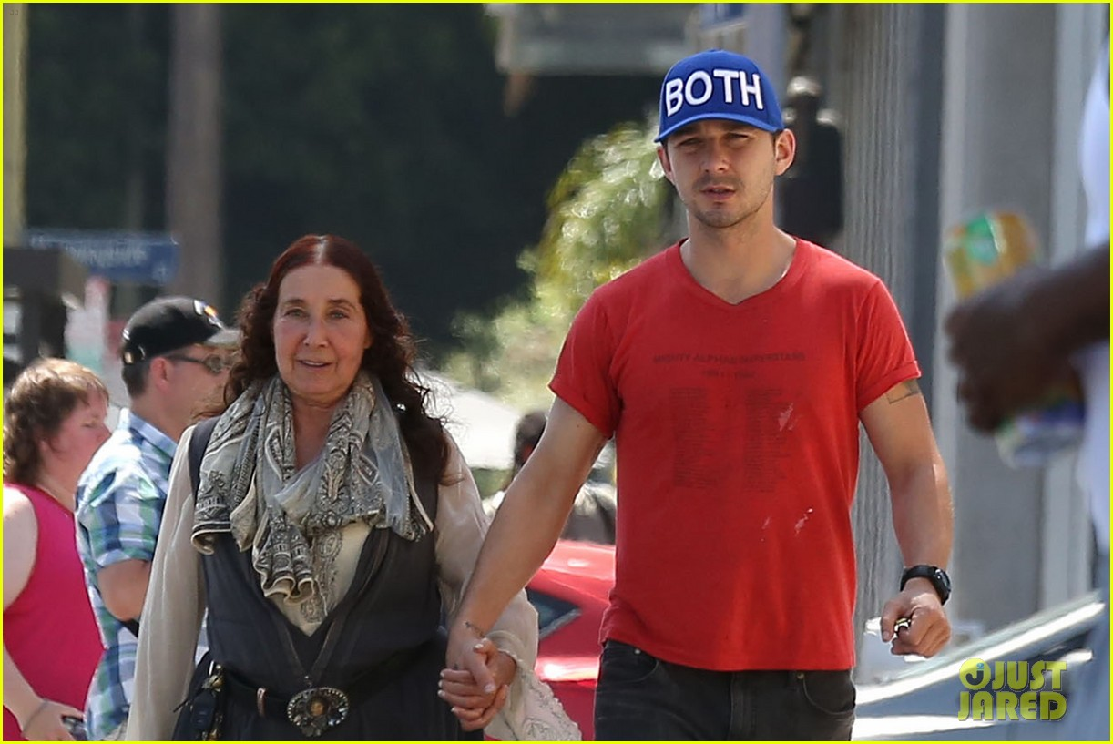 shia labeouf holds hands with his mom while out to lunch 043126060