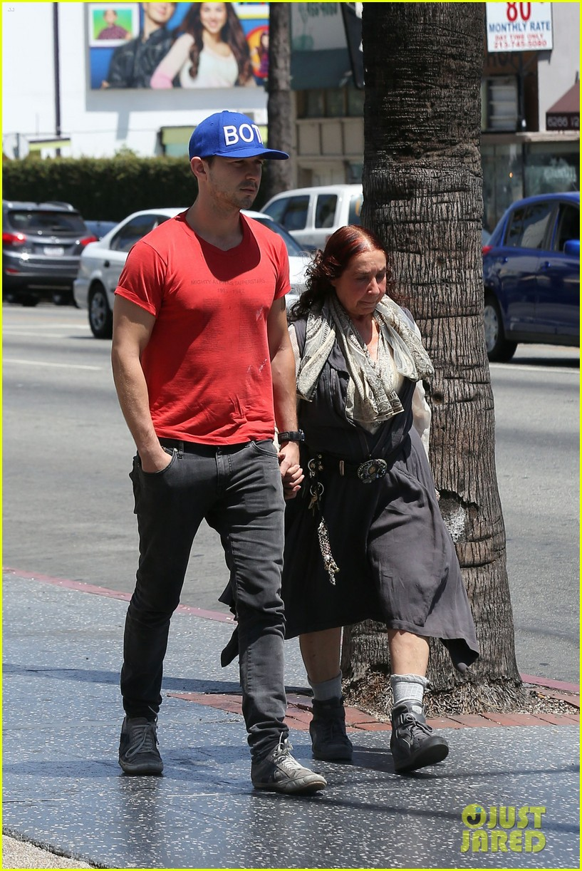 shia labeouf holds hands with his mom while out to lunch 08