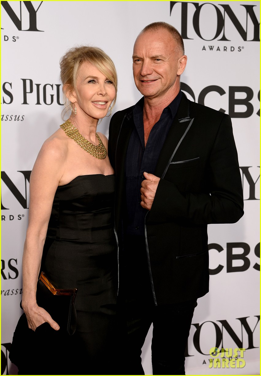 sting brings wife trudie styler to tony awards 2014 02