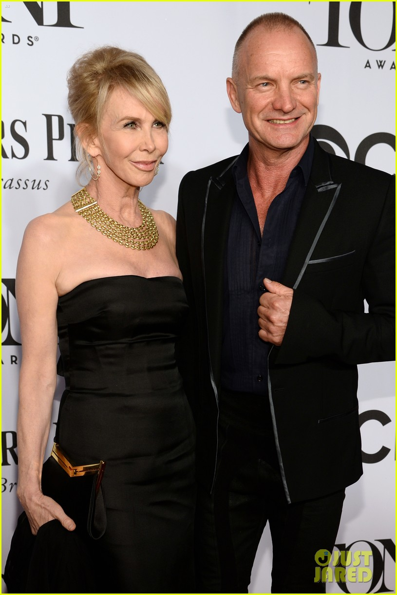 sting brings wife trudie styler to tony awards 2014 06