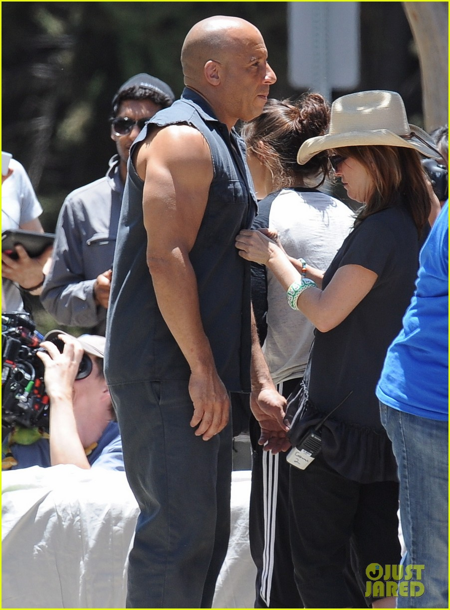 vin diesel does some fiery stunt work for fast furious 7 163128919