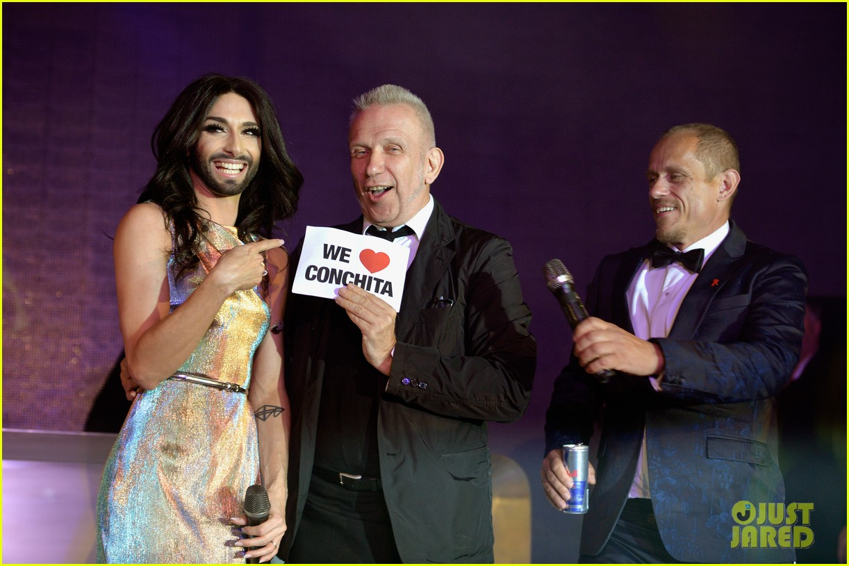 conchita wurst wears five glam looks over life ball weekend 04