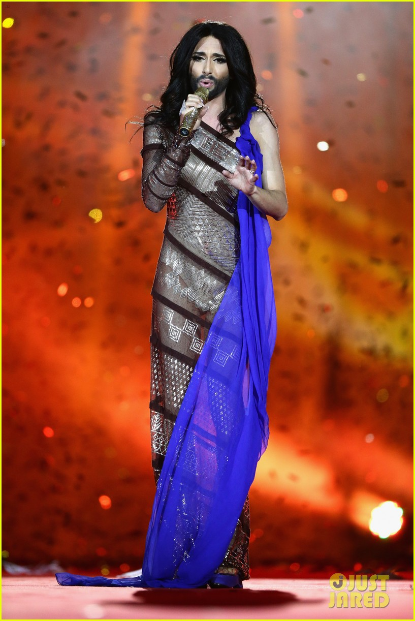 conchita wurst wears five glam looks over life ball weekend 07