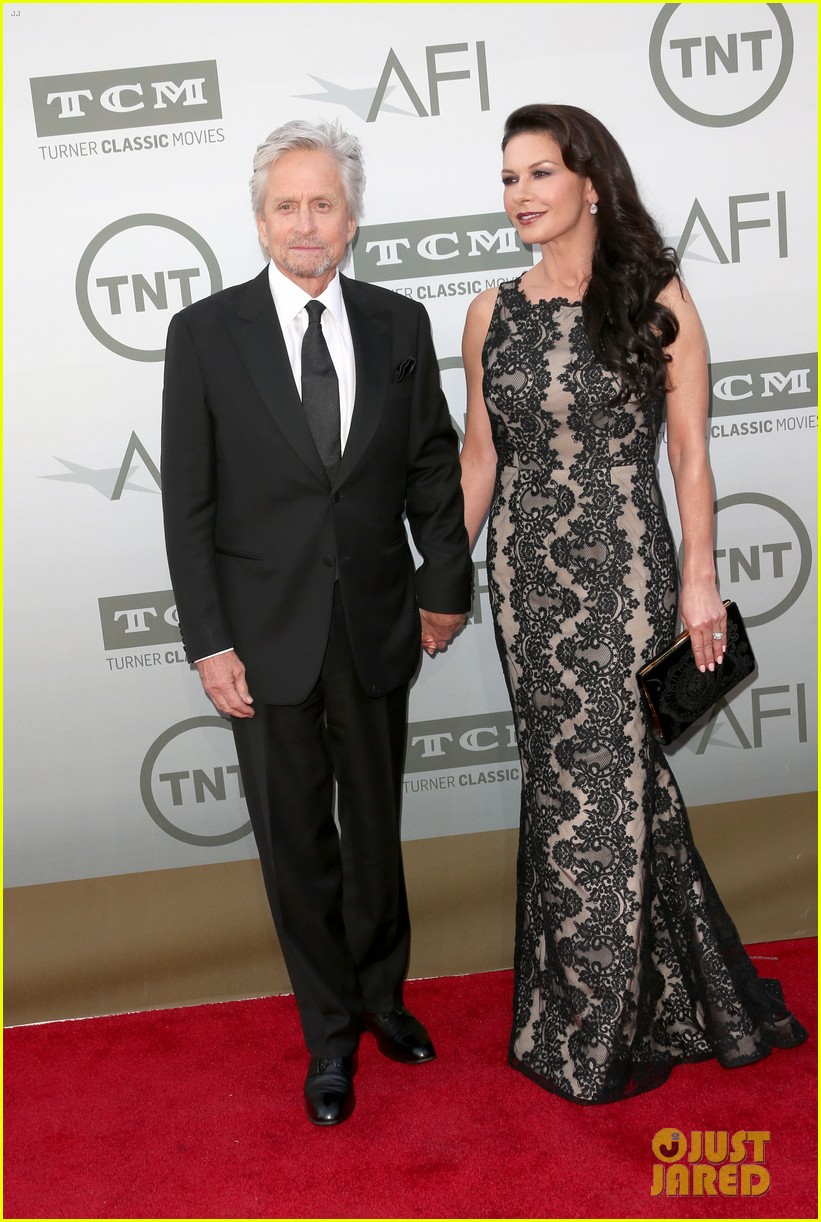 catherine zeta jones michael douglas jane fonda afi event 133129446