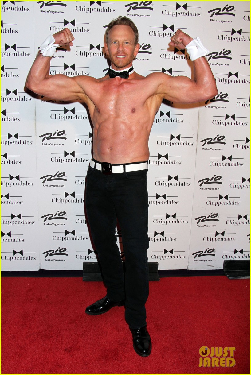 ian ziering shirtless chippendales 01