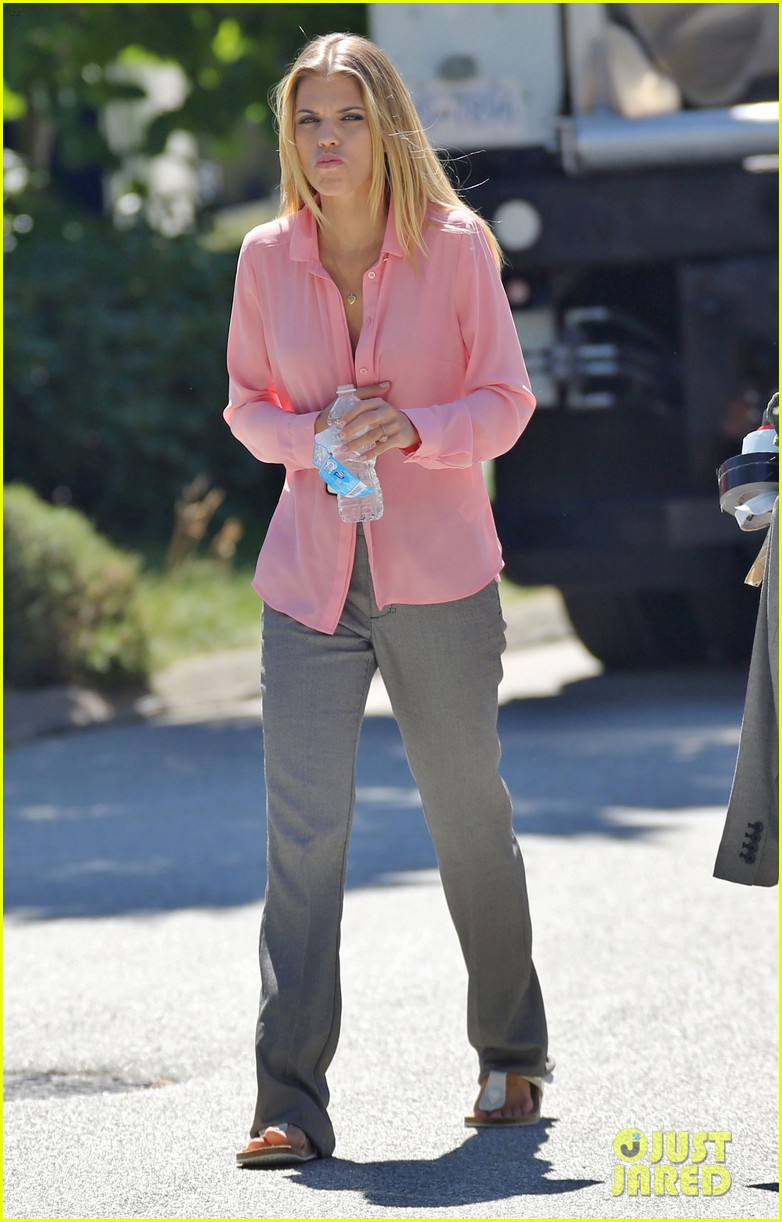 annalynne mccord starbucks run photographs filming 23