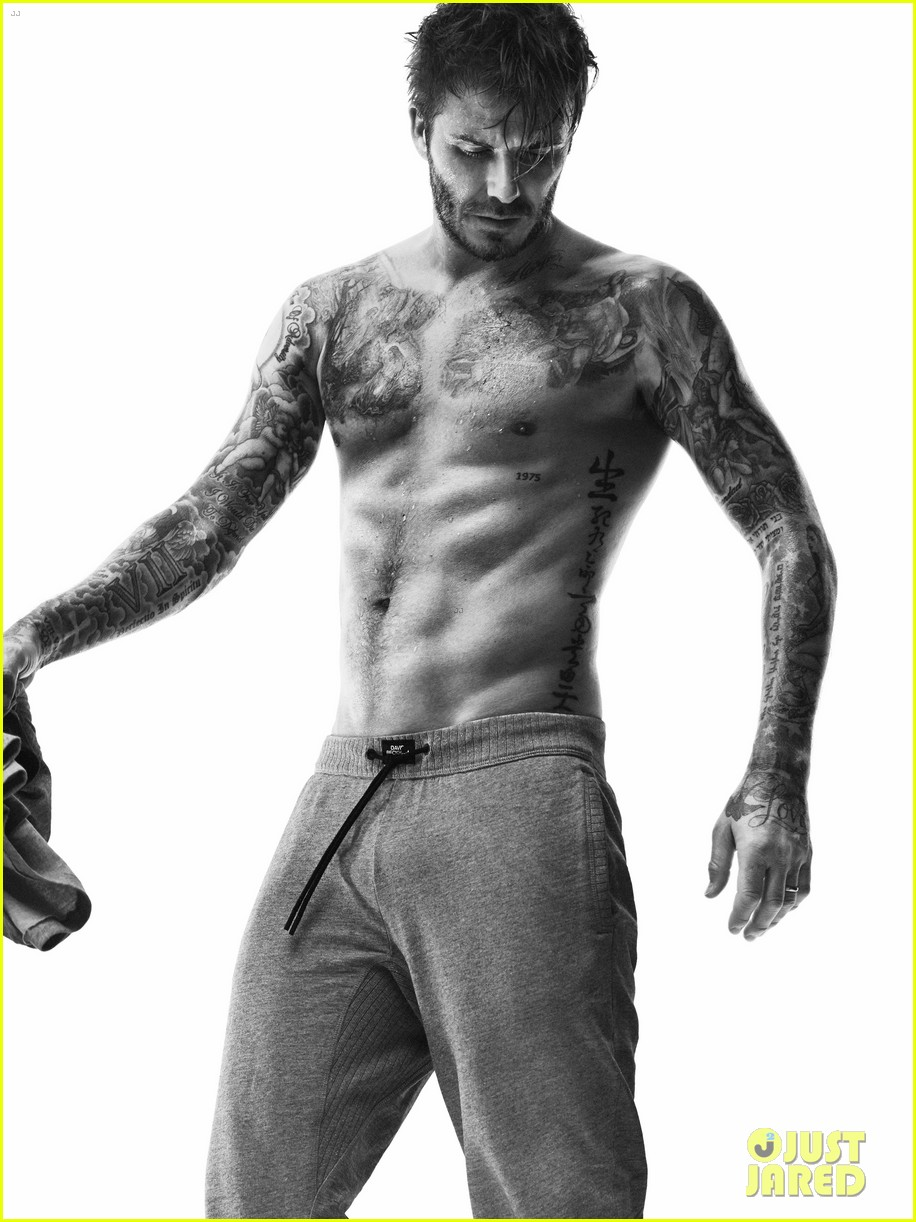 david beckhams hot shirtless body is on display for new hm bodywear 10