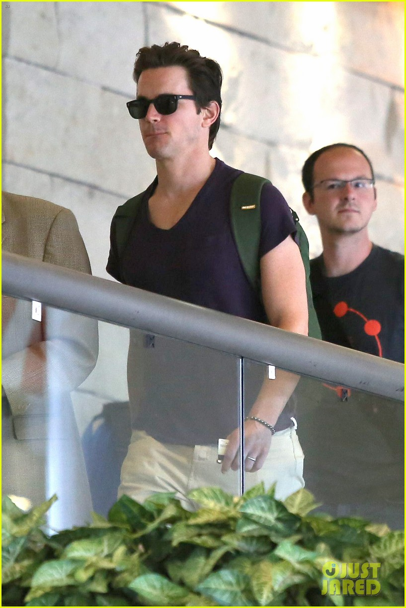 matt bomer wears short shorts at the airport 09