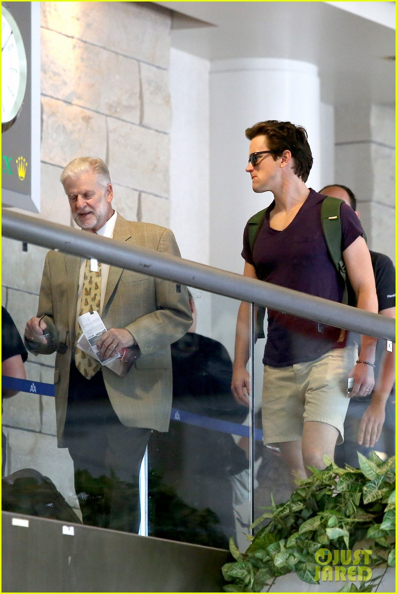 matt bomer wears short shorts at the airport 123150556