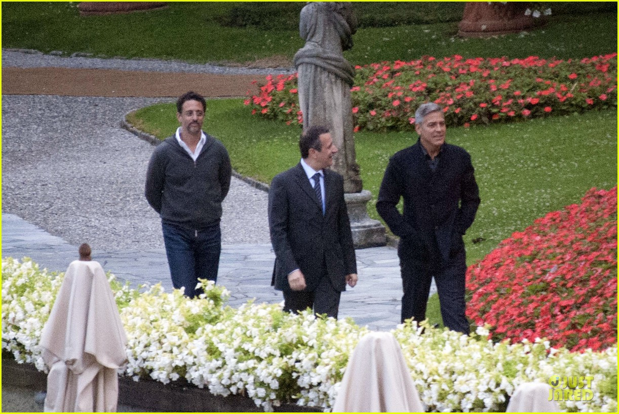 george clooney grant heslov meet up in italy 18