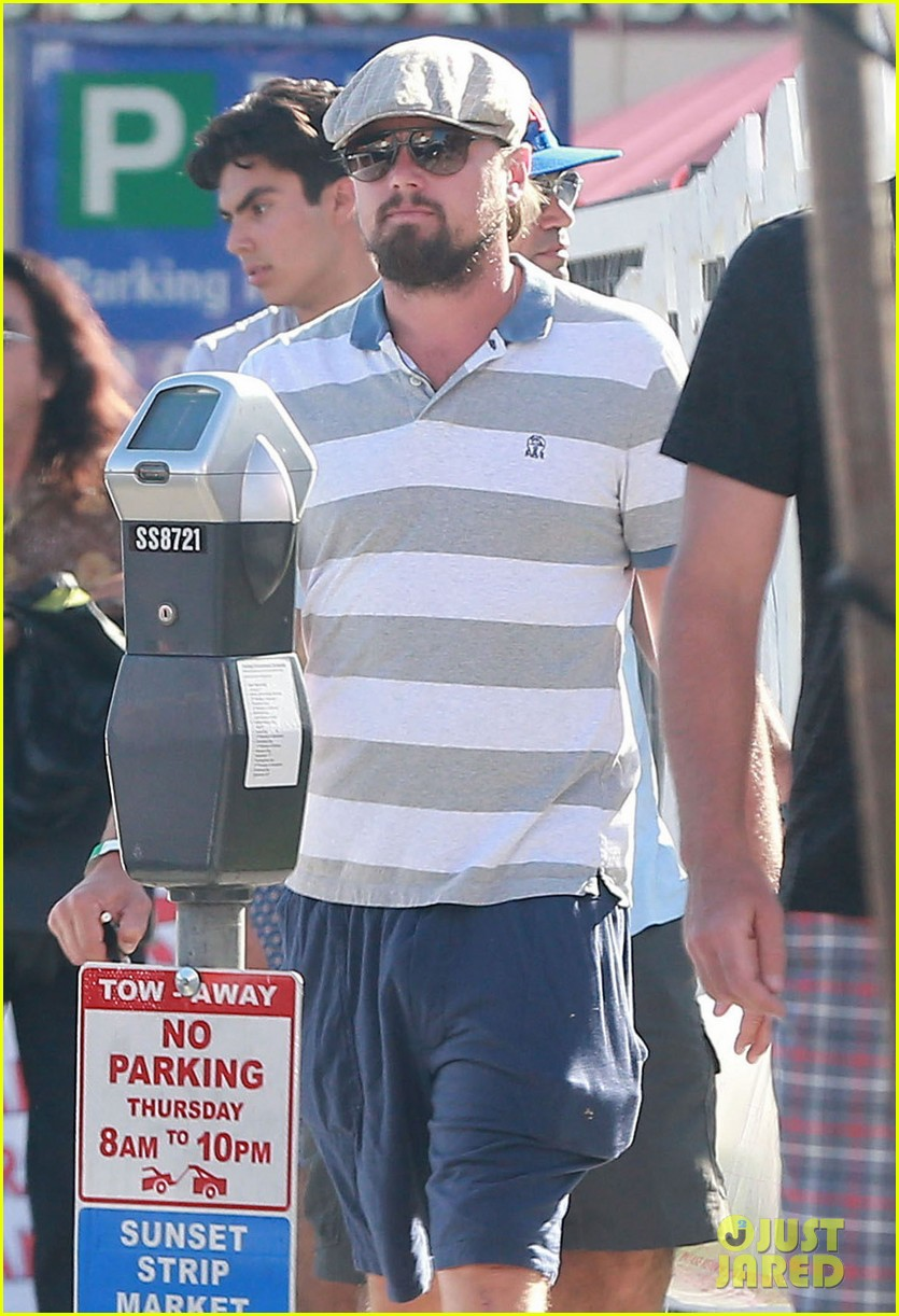 leonardo dicaprio sports scruffy beard 113153378