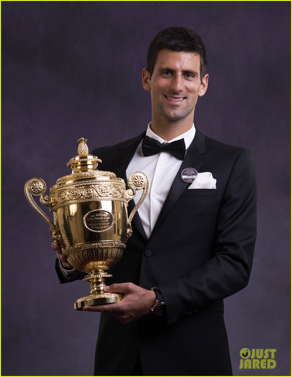novak djokovic celebrates win at wimbledon championships winners ball 2014 02