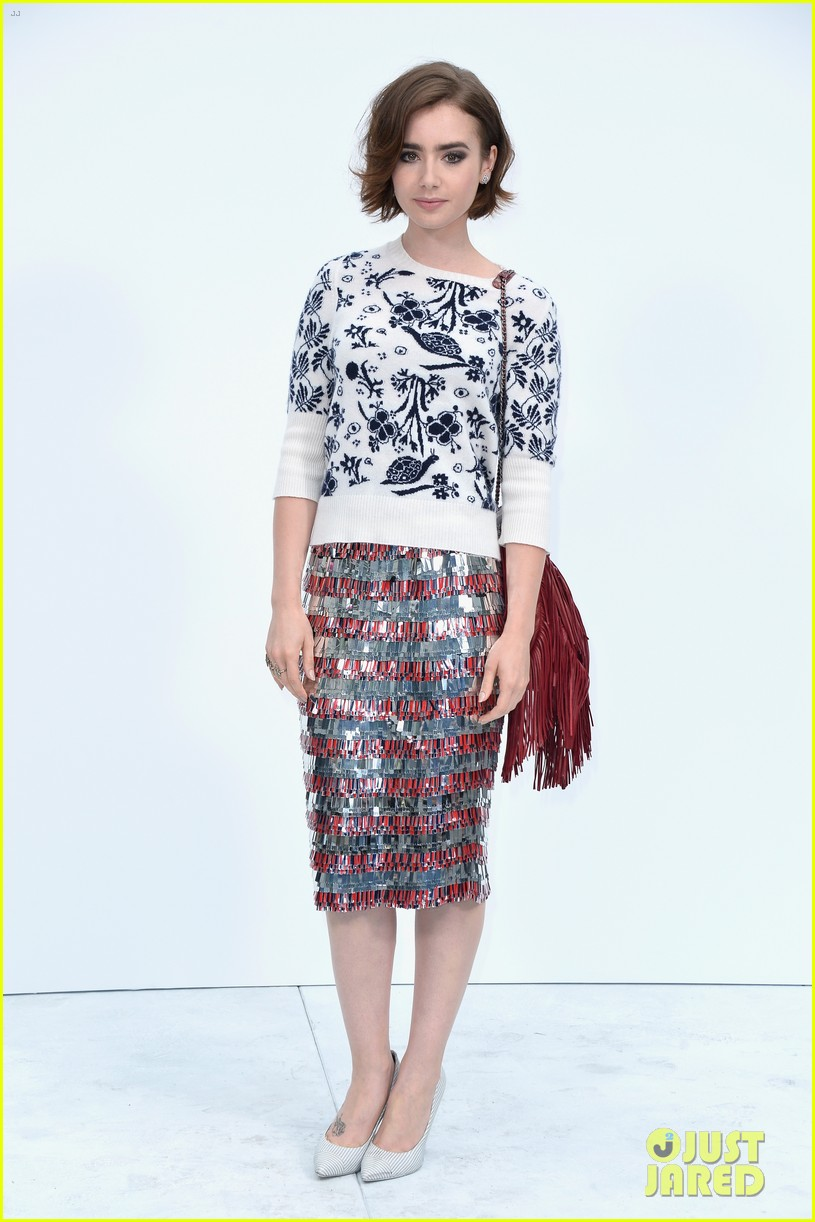 nina dobrev lily collins join jared leto at chanel fashion show 09