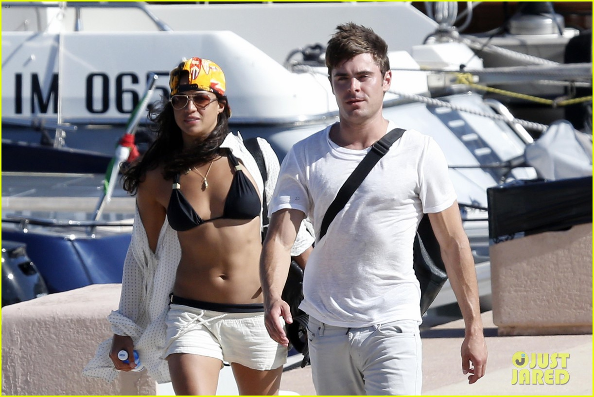 zac efron michelle rodriguez set sail together in porto cervo 113148190
