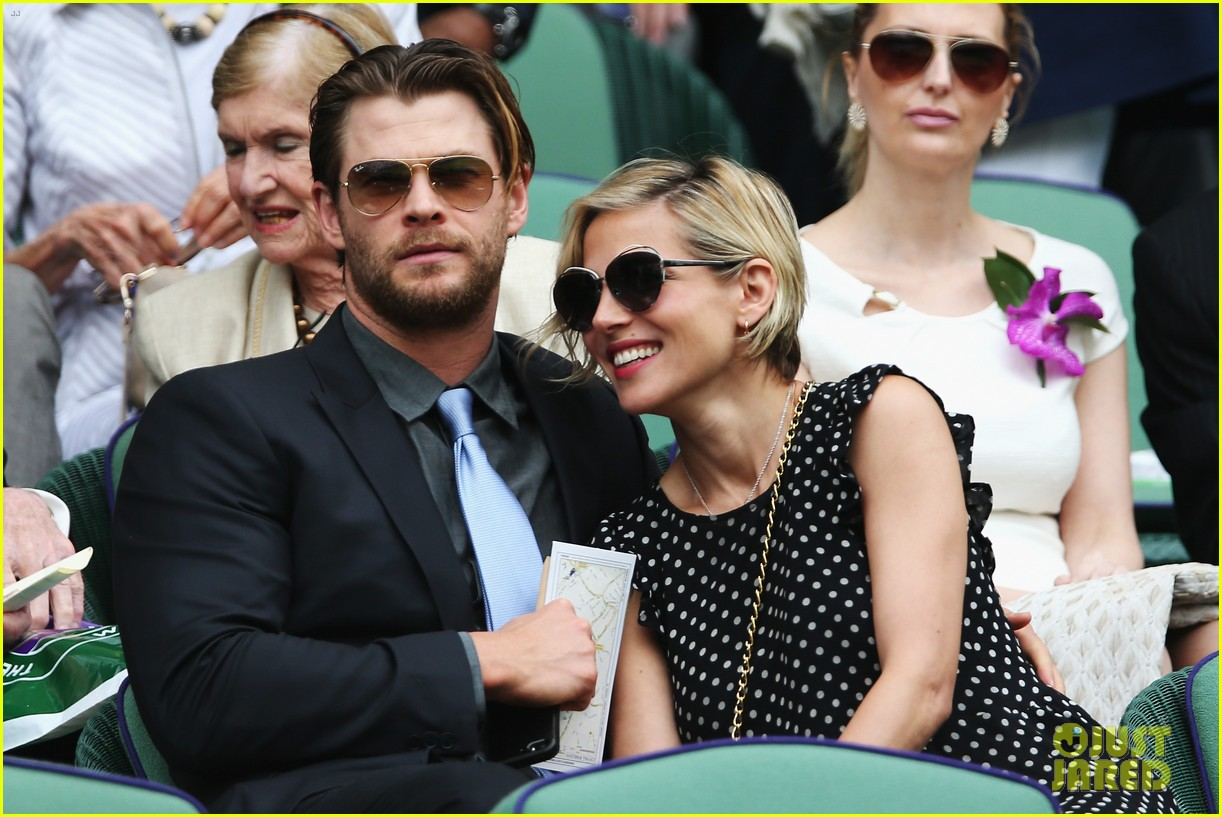 chris hemsworth elsa pataky wimbledon 07