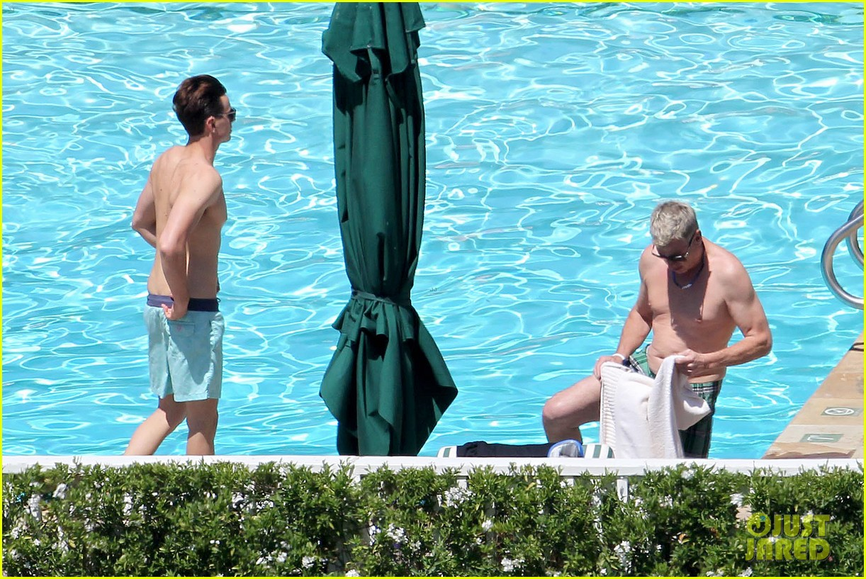 joe simpson hits the pool with a much younger man 21